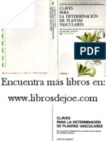 Botanica - Claves Para La Determinacion de Plantas Vasculares. (Bonnier.omega)