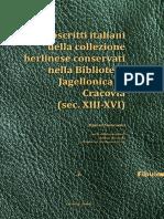 Manoscritti italiani della collezione berlinese XIII-XVI
