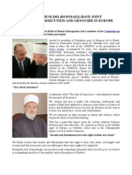 Jews & Bosnian Muslims Have Joint Experience in Genocide