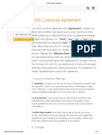 AWS Customer Agreement
