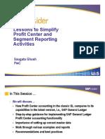 Sap Segments Profit Centers