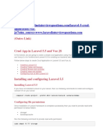 Crud App in Laravel 5.5Post