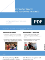 David Evans Presentation - Inside in-Service Teacher Training - V2016!06!16