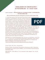 Creatividad y Modalidades de Comunicación y Comprensión en Psicoanálisis - Dr. Ismail Yildiz