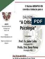 ABRAPSO-Diálogos_A Crítica Na Psicologia