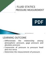 Ch2 Fluid Statics- Pressure Sem 1 1718