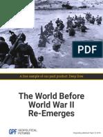 World Before World War II Re Emerges Welcome.01