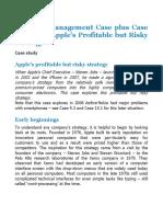 Strategic Management Case - APPLE