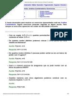Matematica Essencial_ Medio_ Exercicios de Analise Combinatoria