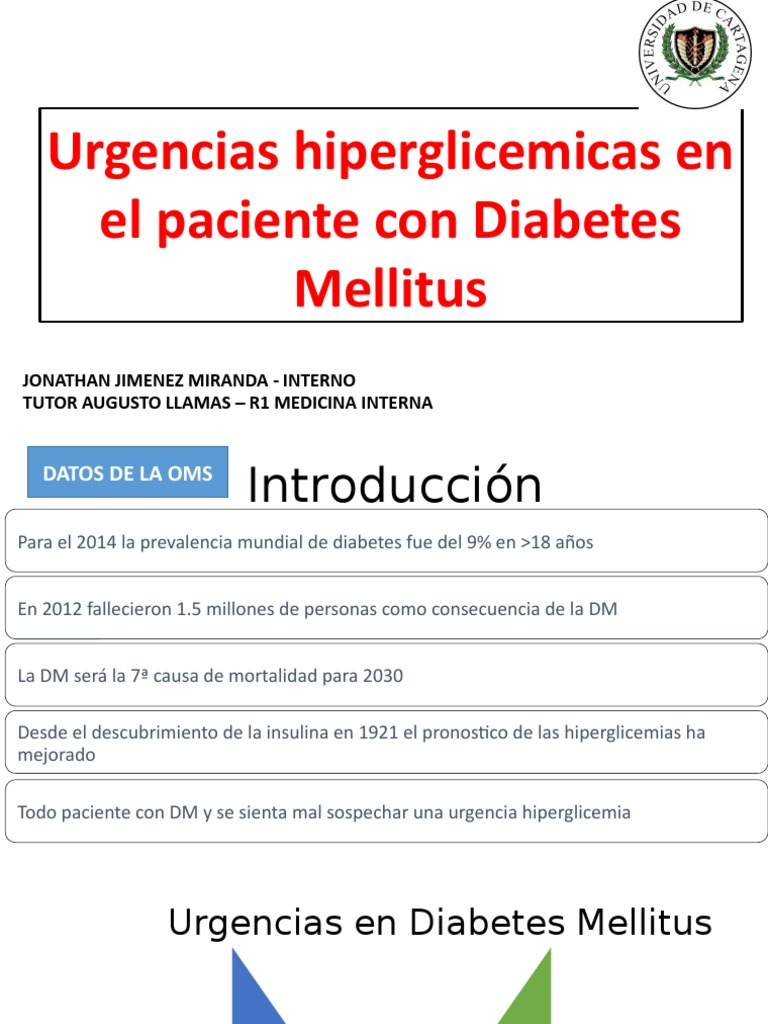 diabetes hiperglucemia emergencia