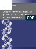 Guidelines for Human Biobanks