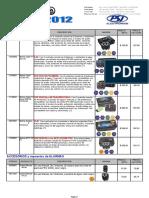 Lista-catalogo Pst 20121