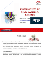 Instrumentos Renta Variable Acciones