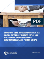 Corruption Risks and Management Practice in State-Founded LEPLs and N(N)LPs