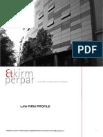 Kirm Perpar New Law Firm Profile June 2013