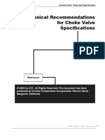 Technical Recommendations for Choke Valve Specifications