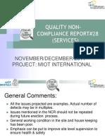 Quality Ncr #28 Services Nov Dec