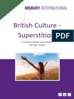 Britishculture Superstitions