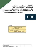 ejercicio insecticida