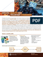 Fao Specific Quality and Voluntary Standards