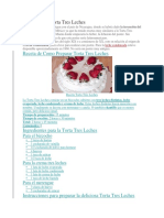 Historia de La Torta Tres Leches