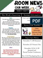 weekly newsletter  powerpoint  23-27