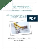 Guía Para La Elaboración Del Cable Cruzado y Cable Recto