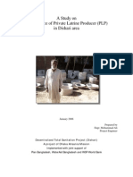 A Study on Performance of Private Latrine Producer (PLP) in Dishari Area_Mohammad Ali