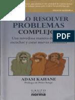 Kahane - Como Resolver Problemas Complejos