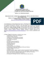 EDITAL 16 Programa Ciencias Sem Fronteiras