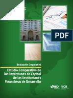 Estudio Comparativo de Las Inversiones de Capital de Instituciones Financieras de Desarrollo