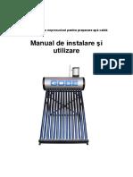 Manual Colector Solar GOBE Termosifon