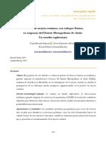 Prácticas de Mejora Continua, Con Enfoque Kaizen, En Empresas Del Distrito Metropolitano de Quito, Un Estudio Exploratorio.