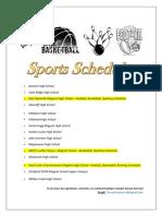 sports schedules amaya howard