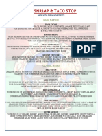 Menu Events and Lunch PDF
