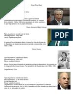 Presidentes de Guatemala 1985 a 2017