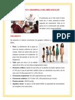 Crecimiento y Desarrollo Del Niño Escolar (1)