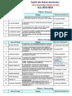 Sujets Des Theses Des Doctorants Inscrits Au Cycle Doctoral de Liscae 2011 16