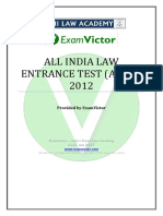 EV_AILET 2012 Question Paper and Answer Key
