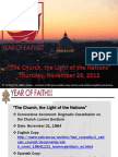 Year of Faith - Lumen Gentium