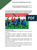 Guía Fácil Planificada Para Entrenadores de Fútbol 7