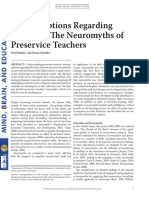 (2016) Misconceptions Regarding the Brain, The Neuromyths of Preservice Teachers