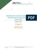 Examen Oposiciones Geografía e Historia Galicia 2017