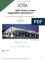 O STF Pode Atuar Como Legislador Positivo_ – JOTA