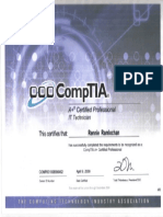 Comptia A+-IT Technican Certificate