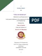 BE Construction Mgt Seminar Format
