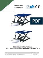 PET15600 Mesas Elevadoras Planas