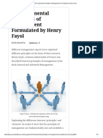 14 Fundamental Principles of Management Formulated by Henry Fayol