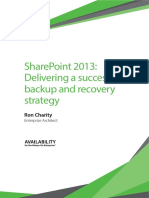 SharePoint 2013 Delivering a Successful Backup and Recovery Strategy