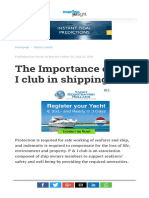 The Importance of P & I Club in Shipping
